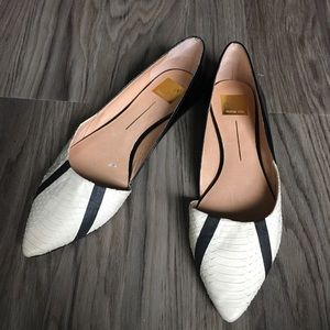 Anthropologie pointy toe slip on leather flats